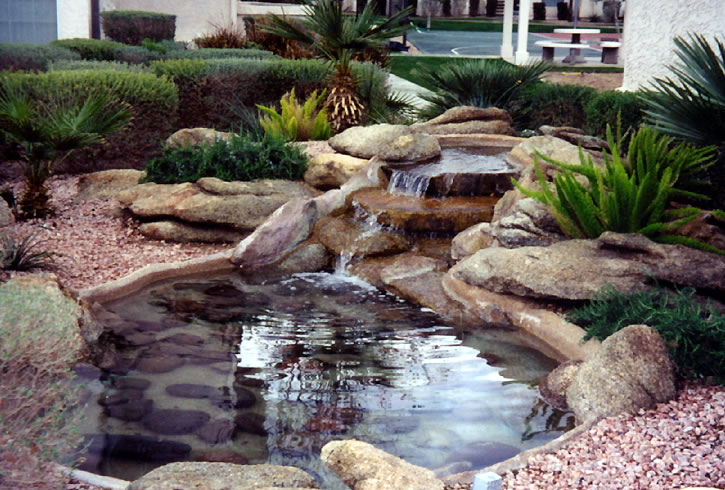 Free Standing Water Feature Into A Pond