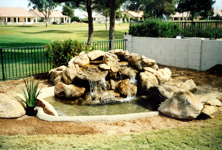 25 Square Foot Water Feature With 7x9 Foot Pond